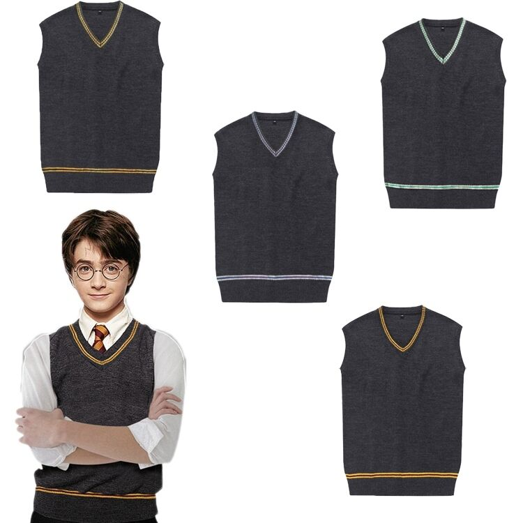 Harry Potter Gryffinder Slytherion Ravenclaw Hufflepuff Men Vest School Sweater