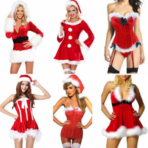 f6014e0aaa7 Plus Size Sexy Miss Santa Corset Bustier Xmas Outfit Christmas Fancy ...