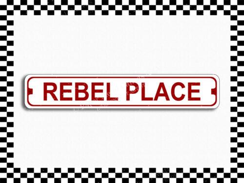 SA-1359 Rebel Place Street Sign 3x18 Metal Plaque