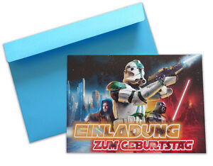 Das Bild Wird Geladen Einladungskarten Mit Umschlag STAR WARS  Kindergeburtstag Party
