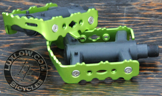 """Black LoDo FiXiE Road Bike Pedals 9//16/"""" Vintage Fixed Gear Track Cruiser Bicycle"""