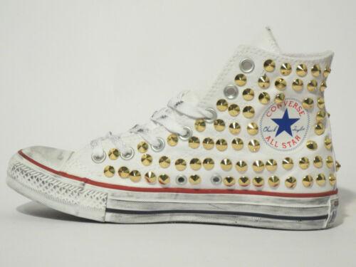 BlancNoir Star Hi Femme All Homme Gold Studs Chaussures Fabriqu Converse Y67vfymbIg