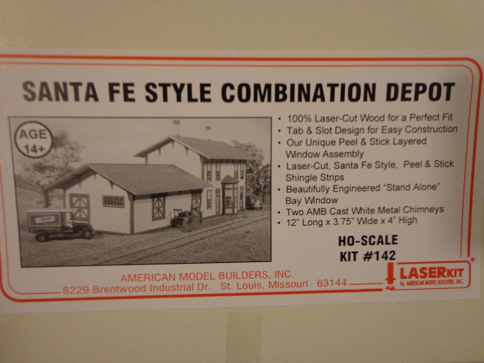 American Model Builders HO Santa Fe Depot (Kit)
