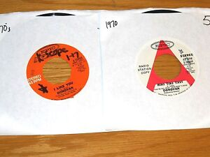 LOT-OF-2-PROMO-70-039-s-ROCK-45-RPM-DONOVAN-EPIC-10649-and-10983