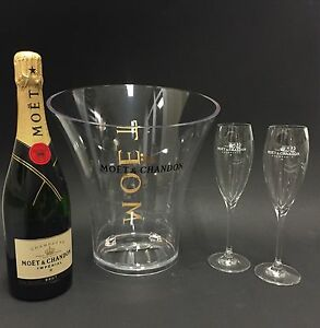 moet chandon imperial champagner flasche 0 75l 12 vol 2 mo t gl ser k hler ebay. Black Bedroom Furniture Sets. Home Design Ideas