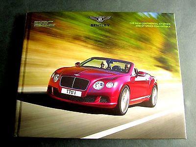 UK 2013 HARDBACK BROCHURE W12 BENTLEY CONTINENTAL GT /& CONVERTIBLE