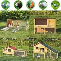 Rabbit Hutch Poultry Cage Bunny Chicken Coop Guinea Pig Ferret Hen Us Stock M1b4