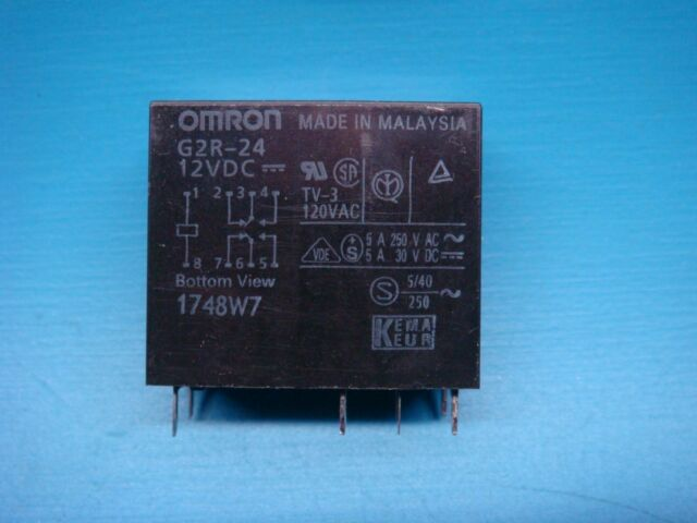 2 PCS G2R-1A-E-DC12 OMRON POWER RELAY SPST-NO 12VDC 16A