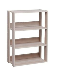 Details About Small Narrow Open Bookshelf Bookcase Shelf For Books With Adjustable Shelves New