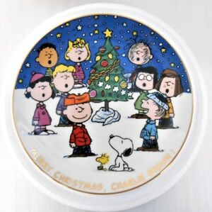 Merry Christmas Charlie Brown.Details About Danbury Mint Merry Christmas Charlie Brown 90 S Era Snoopy Gang Retired Plate