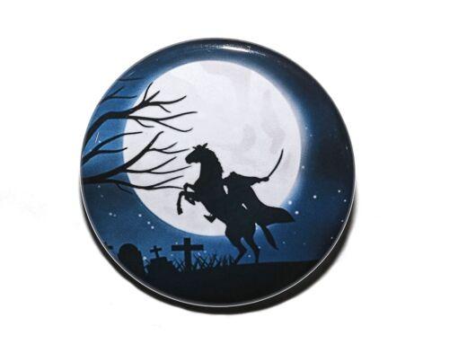 """HEADLESS HORSEMAN Pinback Button Badge 1.5/"""" Halloween"""