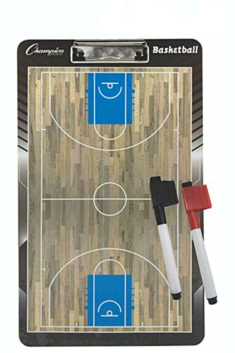 Champion Sports Basketball Coaches Board with Dry Erase Pen