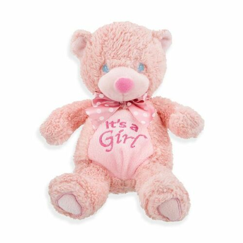 "9"" It's a Girl Bear Great for Baby Shower Gift or Decorations FREE SHIP"