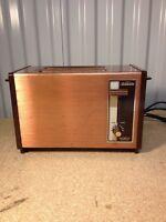 Rare Vintage Sunbeam 2-Slice Slot Toaster Antique Copper Mid Century Modern (dd)