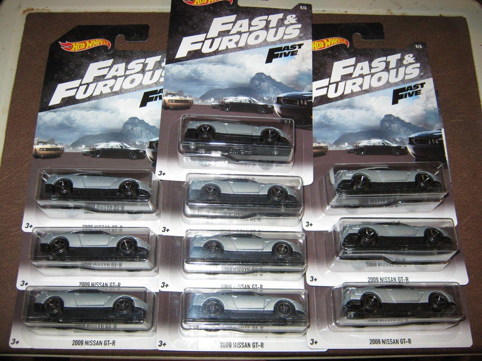 ganancia cero Lote de 10 = 2018 Hot Wheels Fast & Furioso Furioso Furioso = = 2009 JDM Nissan GT-R ='09  en stock
