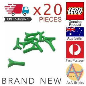 Genuine-LEGO-Grass-Twig-Carrot-Top-Bright-Green-Brand-New