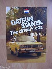 Nissan Australia Datsun Stanza (A10) Prospekt / Brochure, 4.1979, selten!