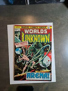 Worlds-Unknown-4-VF-Man-vs-Monster-Marvel-Comics-May-1973