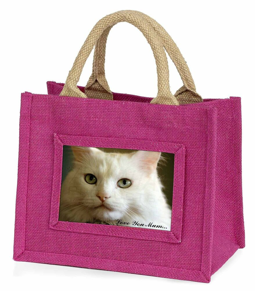 Amical White Cat 'love You Mum' Little Girls Small Pink Shopping Bag Chris, Ac-79lymbmp ArôMe Parfumé