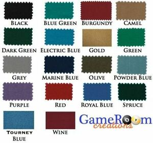 New-Worsted-Pool-Table-Cloth-8ft-Table-Fast-Billiard-Felt-w-PRE-CUT-RAILS