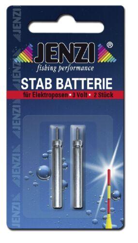 2 Stück JENZI Batterie für elektro Leuchtpose Nacht Angeln Auswahl Pose