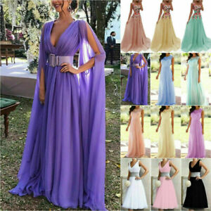 Women Long Formal Wedding Dress Party Prom Bridesmaid Party Lace Maxi Dresses