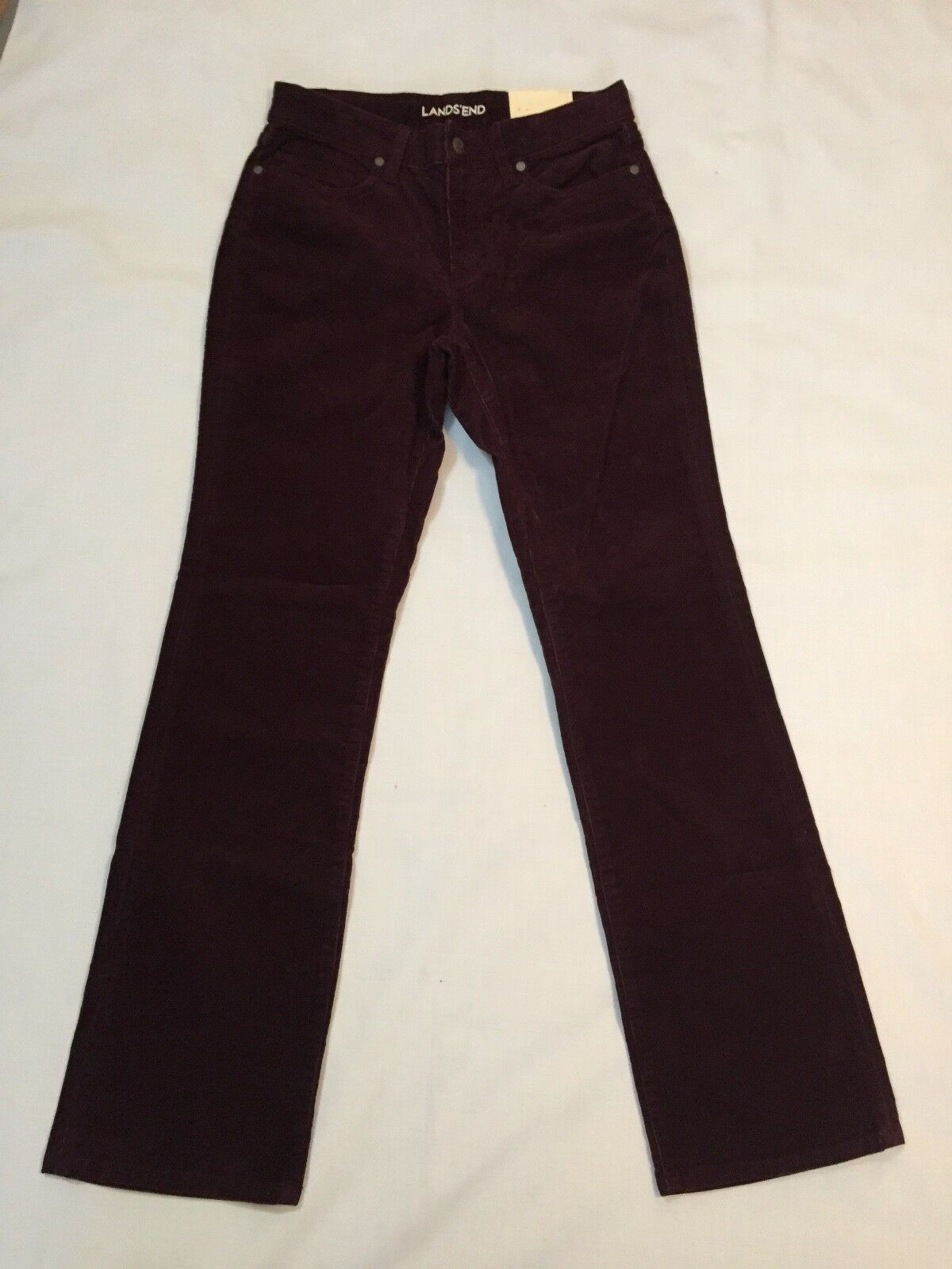 Lands' End Women's Mid Rise Corduroy Demi Boot Pants Size 6 New with Tags