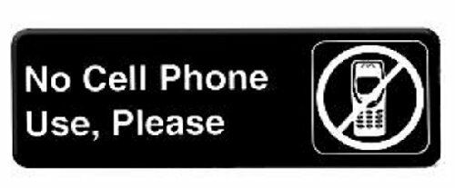 NO CELLPHONE USE PLEASE Information Sign with Symbols Door Sign TPLIS9332BK