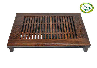 "QiFeng Wenge Wood Gongfu Tea Table Serving Tray 13.4""x9.45"" or 34cm*24cm"