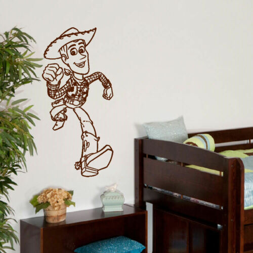 LARGE WALL STICKER WOODY TOY STORY 3 TRANSFER CUT MATT VINYL