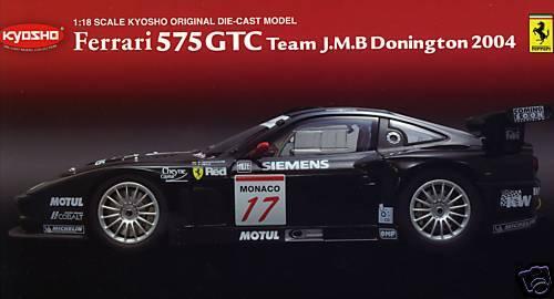 FERRARI 575 GTC team J.M.B DONINGTON 2004 KYOSHO KYOSHO KYOSHO 1/18 08393C 23f682