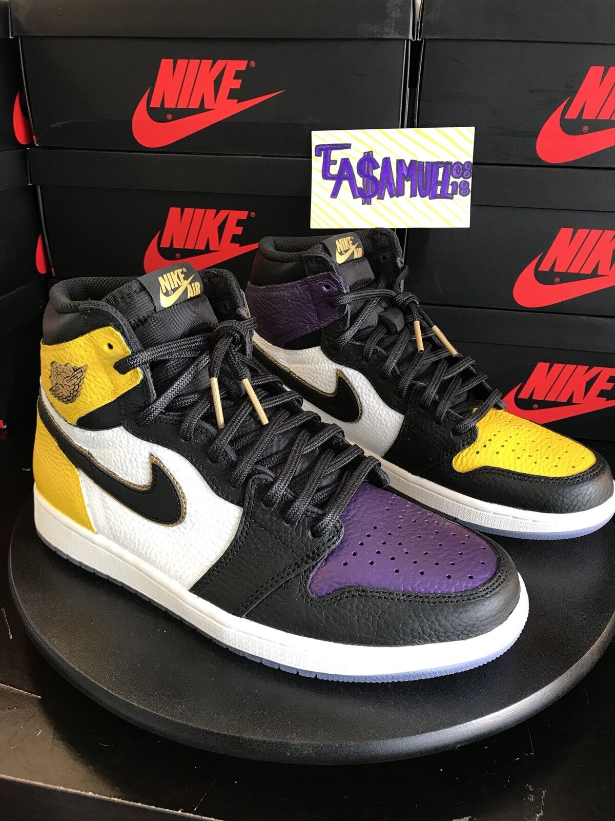 best authentic 47d74 726a5 ... switzerland air lakers jordan retro 1 hi lakers air lebron top 3 custom  sz10 wild casual