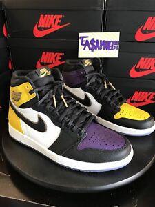 9759a02ad210 Image is loading air-jordan-retro-1-Hi-Lakers-Lebron-Top-