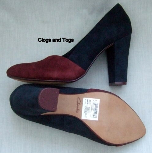 Suede Red Blue Navy Babble Brook Shoes Oxblood New Womens Clarks ZAw0P8naqB
