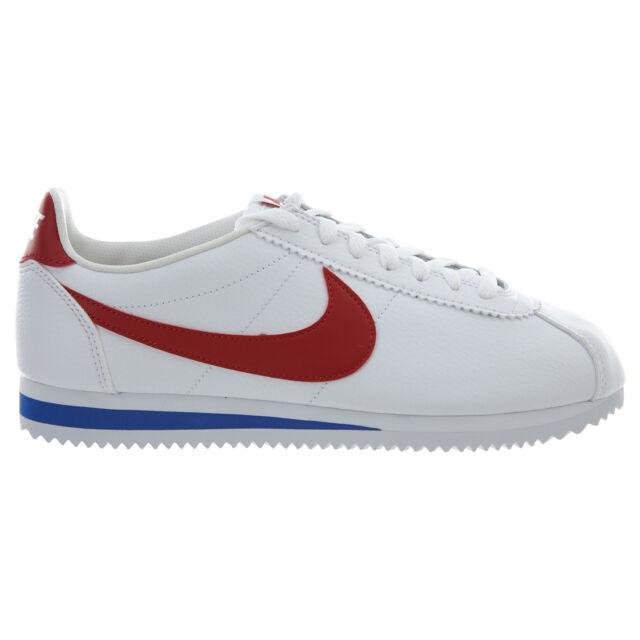 san francisco e132b 84b36 Nike Classic Cortez Leather Mens 749571-154 White Red Royal Blue Shoes Size  11.5