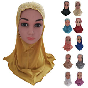 One-Piece-Hijab-Amira-Girls-Kids-Muslim-Head-Wrap-Scarf-Islamic-Headscarf-Cover