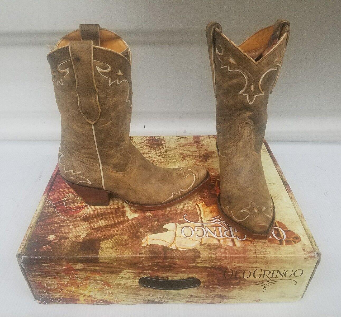 Old Gringo damen Stiefel Größe 6 6 6 Rust Bone Villa 10  fce7c4