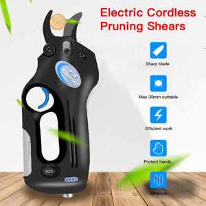 30mm Electric Pruning Shears Cordless Trimmer Pruner Garden Cutting Tree Nursery