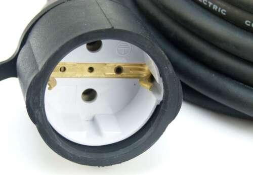 10 x 10 m Schuko Gummikabel 3x1,5mm² H07RN-F für Aussen IP44 Verlängerungskabel
