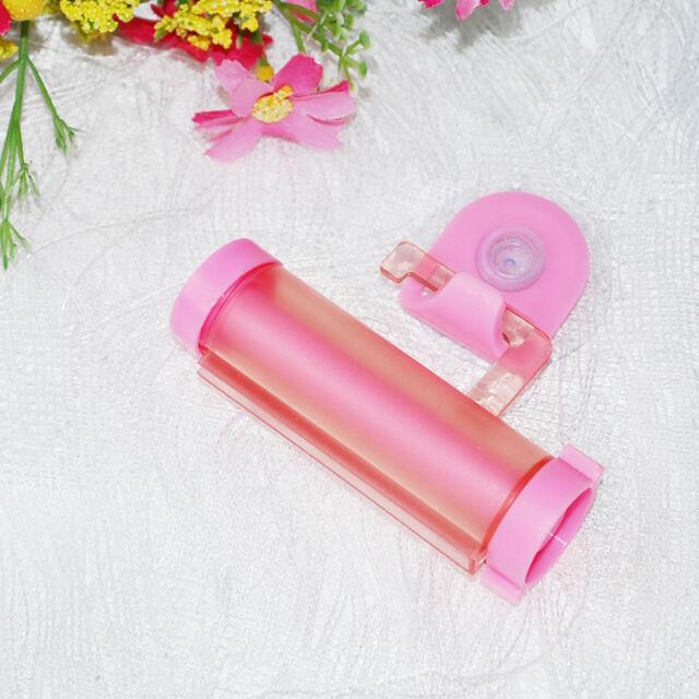 Colorful Plastic Rolling Tube Squeezer Toothpaste Easy Dispenser Bathroom Holder