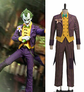 8b97827ce6fe Batman Arkham Asylum Joker Stripe Coat Jacket Outfit Costume Uniform ...