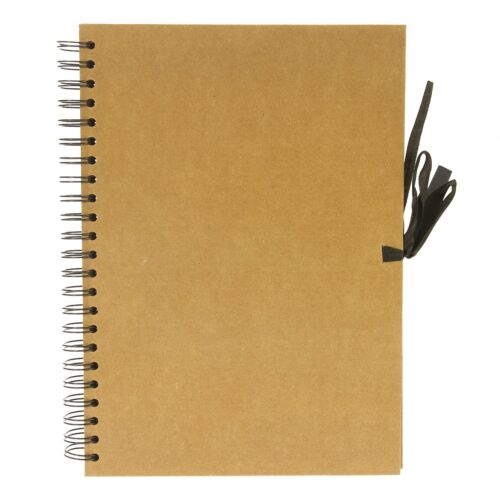 Seawhite Hardback Kraft Paper Sketch Book, Display, Scrapbook 40 Sheets - A4