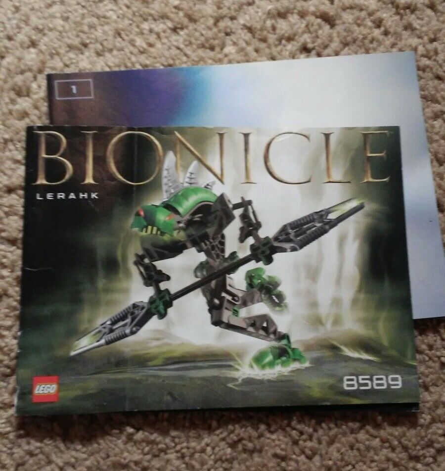 Lego Instruction Manual Only 8589 Bionicle Lerahk Booklet Only