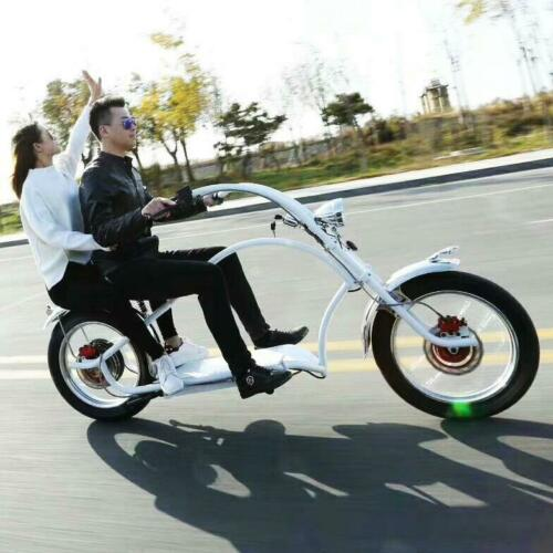 Secutronic-60v-1000w-Two-Seater-Electric-Chopper-Bicycle-Ebike-Scooter-W-BAG