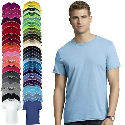 71f97e867bcd29 Details about Gildan Adult T shirt Soft Style Summer Tee Mens Ladies Top
