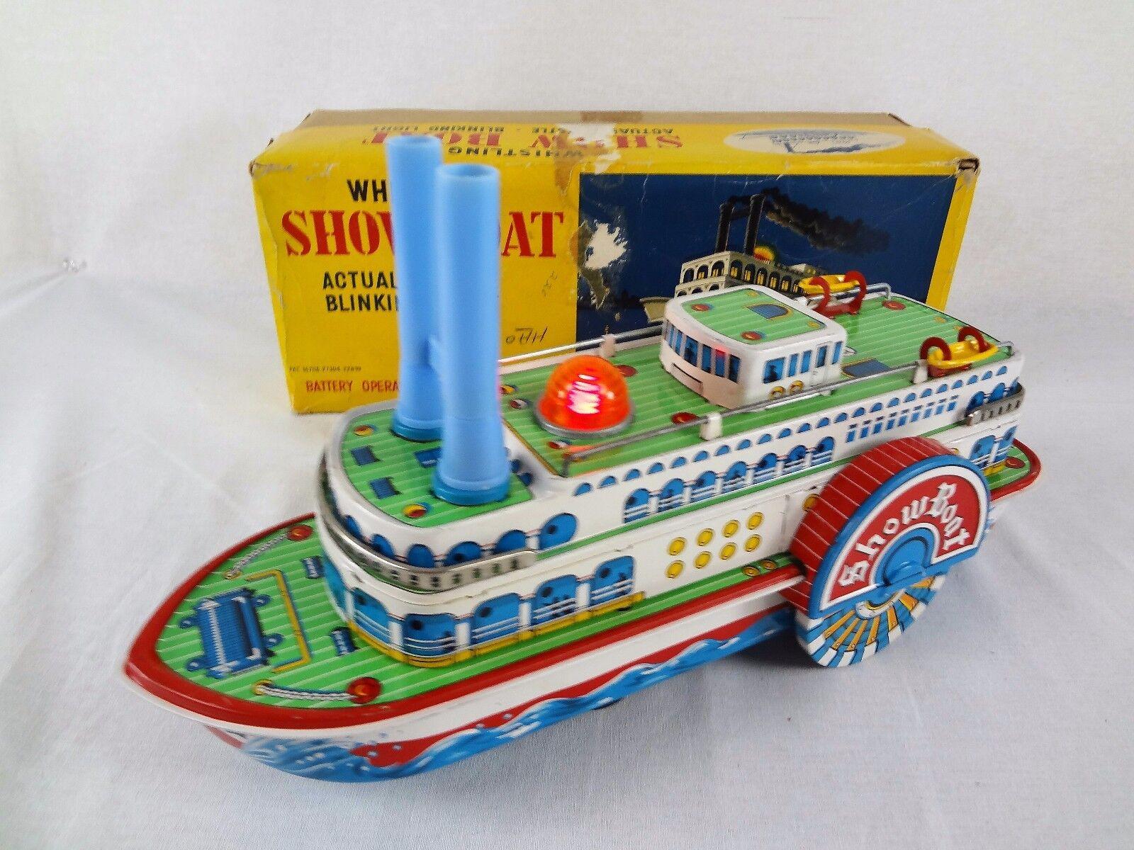 (arbetar) whistling showbåt {65533;C årgång Battery Opererad Tin leksaker {65533; C Modern TM japan