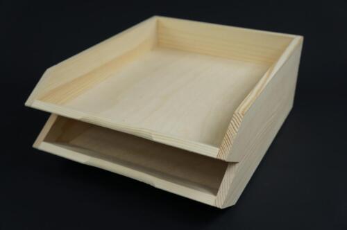 Details about  /5 x Plain Wooden Desk Organiser Document Paperwork Storage Letter Rack A4