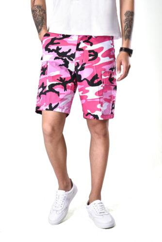 Mens Army Military Combat Style Camo Shorts Fashion Casual Cargo Shorts
