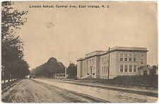Lincoln School on Central Avenue in East Orange NJ Postcard 1911