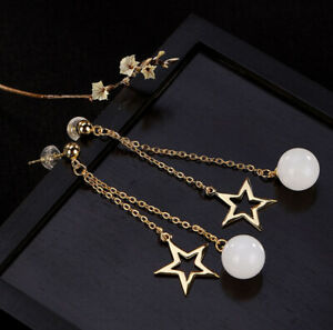 H02-Earring-from-Gold-Plated-Silver-925-Star-and-Ball-Made-of-White-Jade
